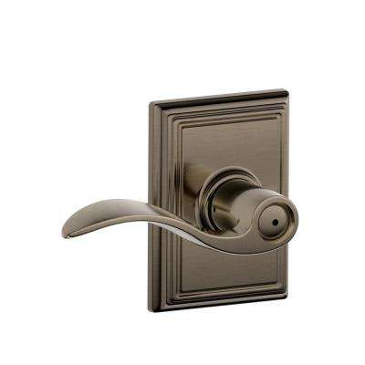 accent matte black bed and bath lever with addison trim
