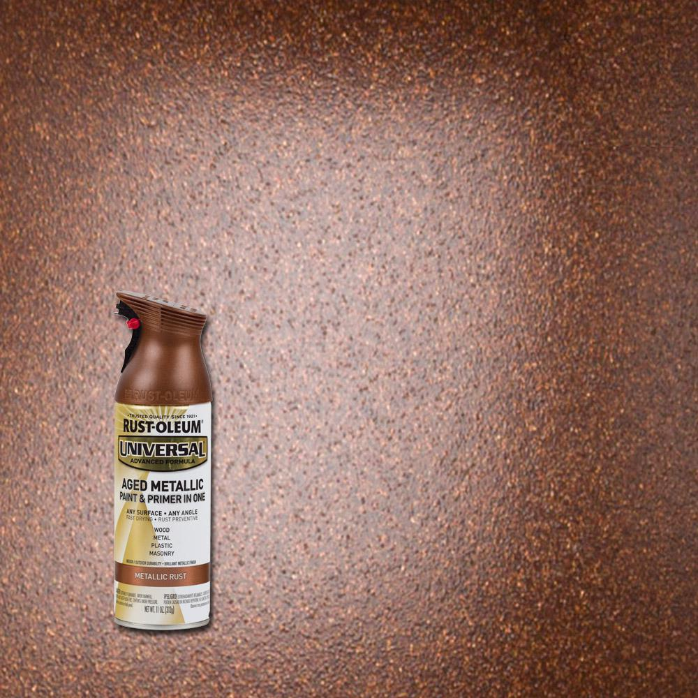 Rust-Oleum Universal 11 oz. All Surface Aged Metallic Rust Spray Paint and Primer in One (6-Pack)