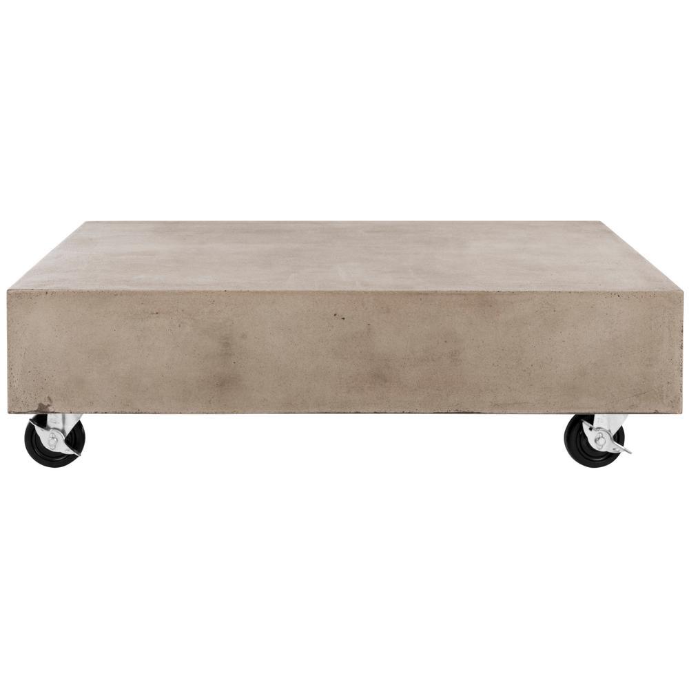 Gargon Dark Gray Rectangle Stone Indoor/Outdoor Coffee Table