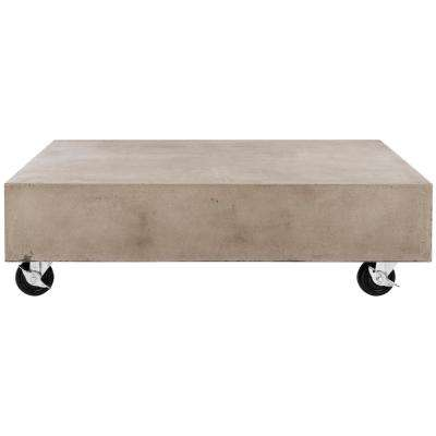 Gargon Dark Gray Stone Indoor/Outdoor Coffee Table