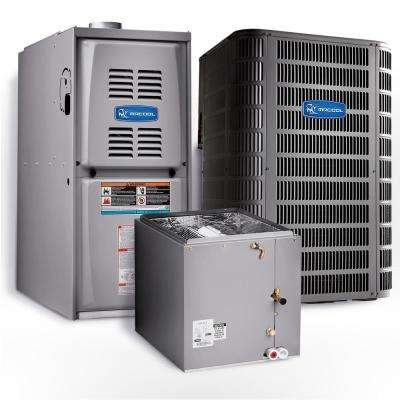 Signature 2-Ton 24,000-BTU 15.1 SEER Upflow Complete Split System Air Conditioner with 80% AFUE Gas Furnace