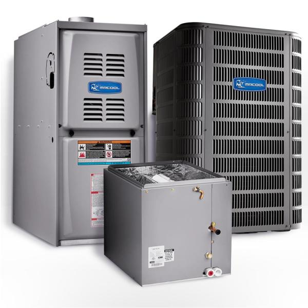 Signature 2.5 Ton 15.5 SEER Upflow 80% AFUE 45,000 BTU Complete Split System Air Conditioner with Gas Furnace