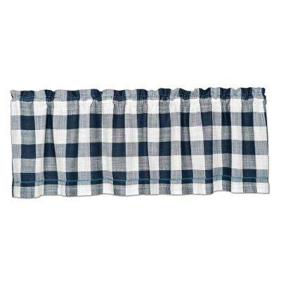 Buffalo Check 55 in. L Cotton Valance in Navy