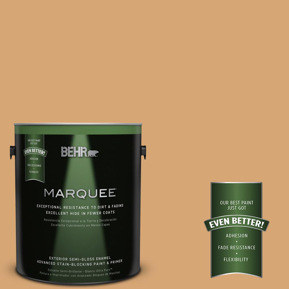 BEHR MARQUEE 1-gal. #M250-4 Cake Spice Semi-Gloss Enamel Exterior Paint