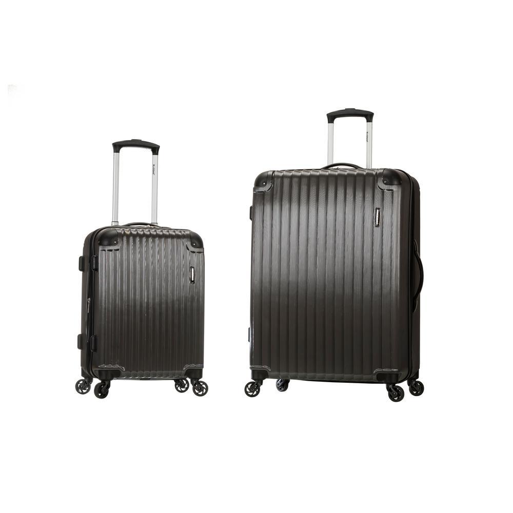 Rockland Expandable Santorini 2-Piece Hardside Spinner Luggage Set, Grey