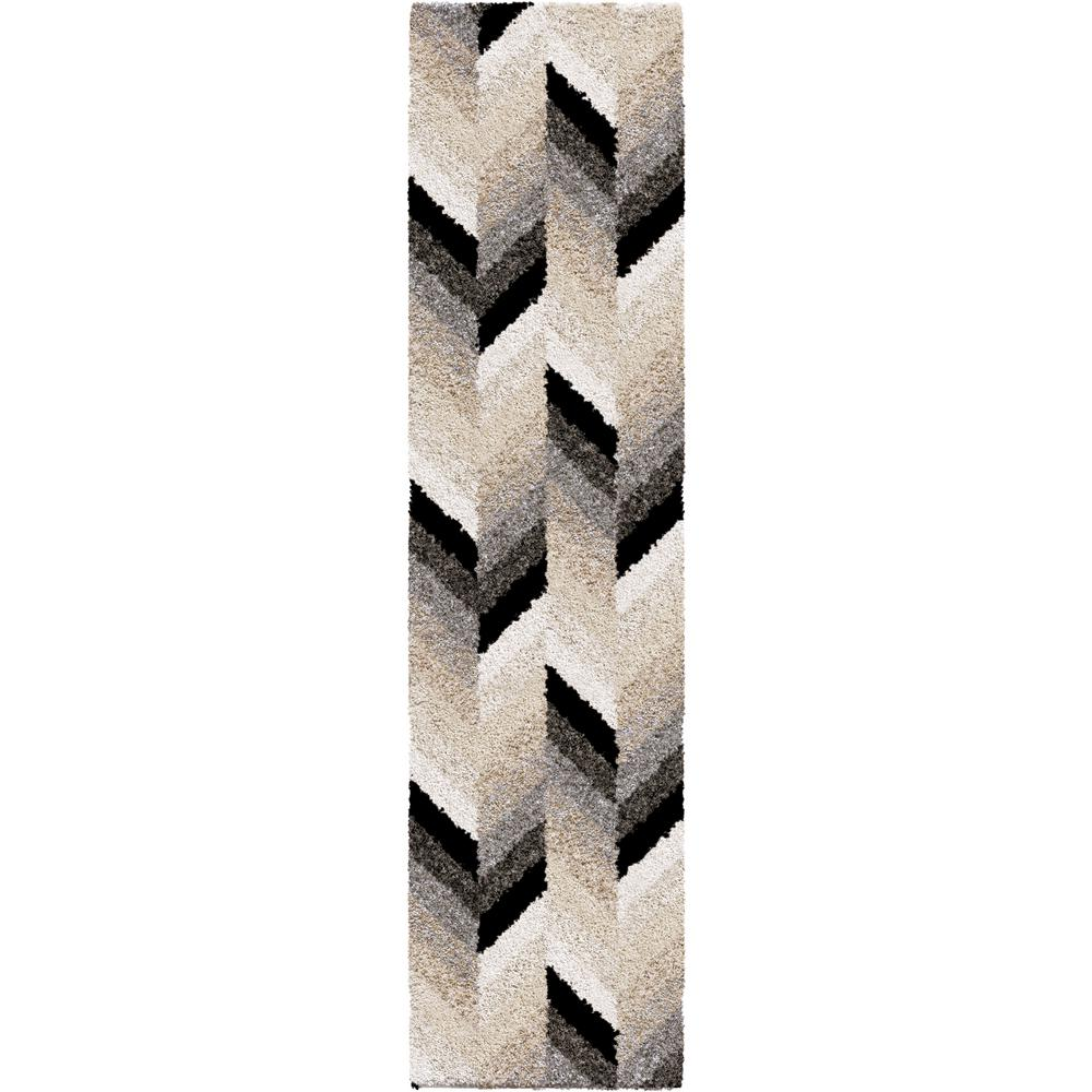 Orian Rugs Glass Chevron Multi 2 ft. x 8 ft. Runner Rug