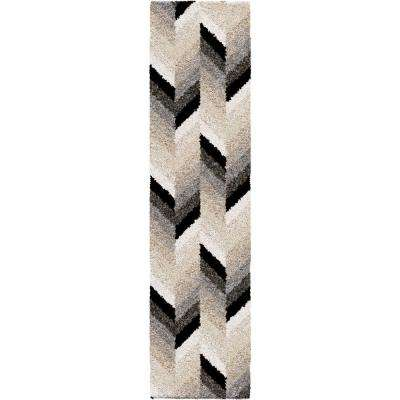 Glass Chevron Multi 2 ft. x 8 ft. Runner Rug