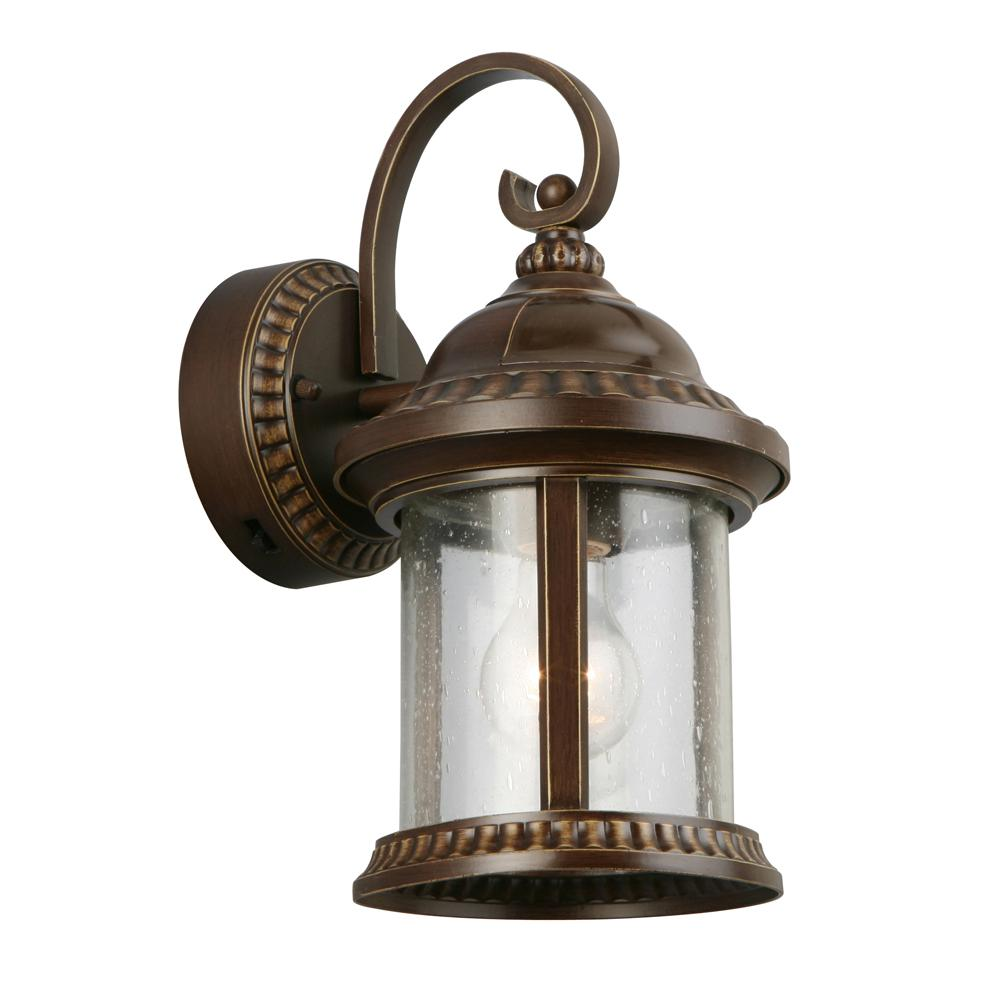 Bronze Motion Sensor Outdoor Medium Wall Mount Lantern