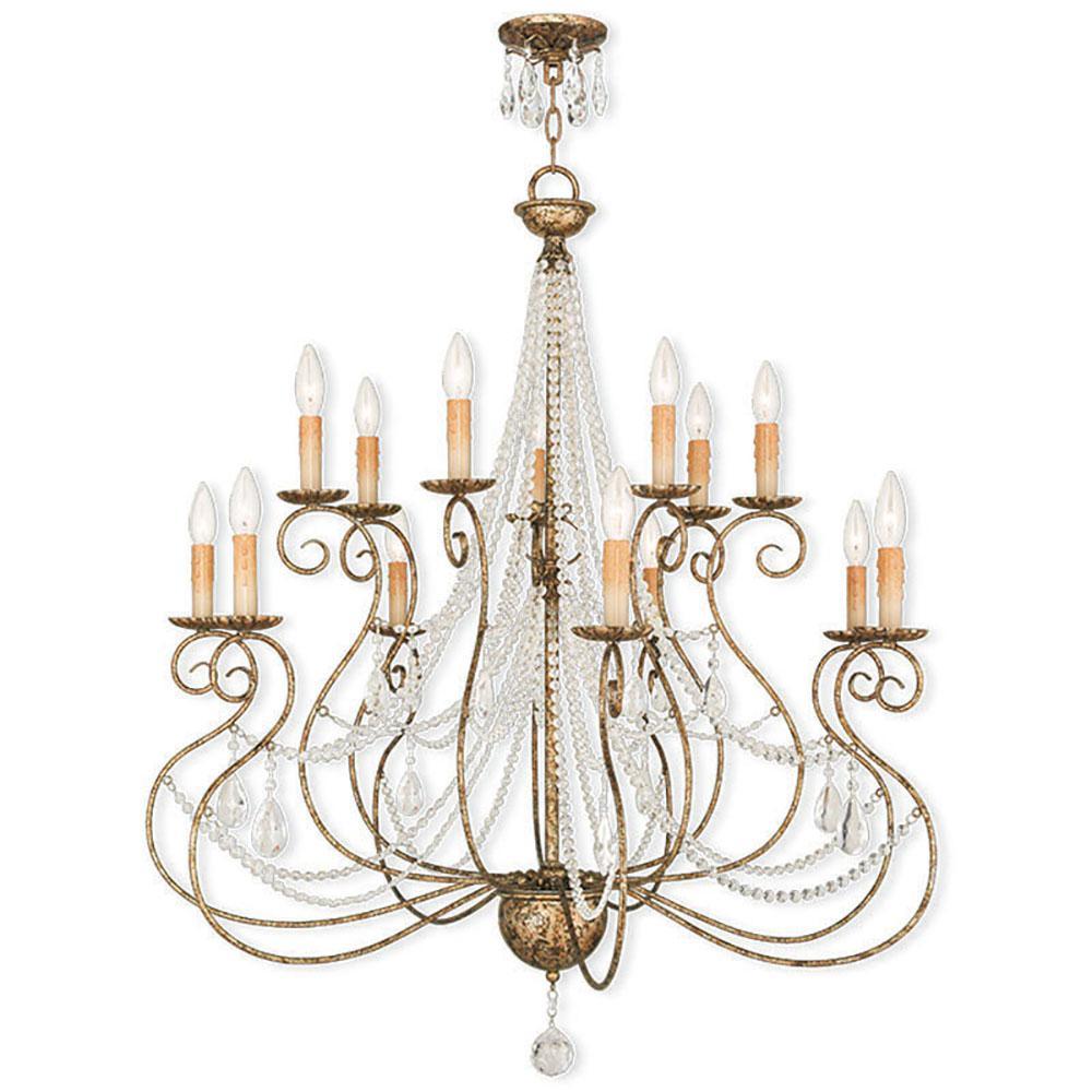 Euro Chandelier Lighting: Livex Lighting Isabella 14-Light European Bronze