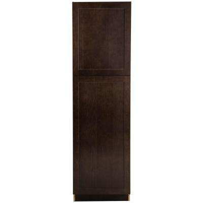 Cambridge Assembled 84x24x24.6 in. Pantry Cabinet with adjustable shelves in Dusk