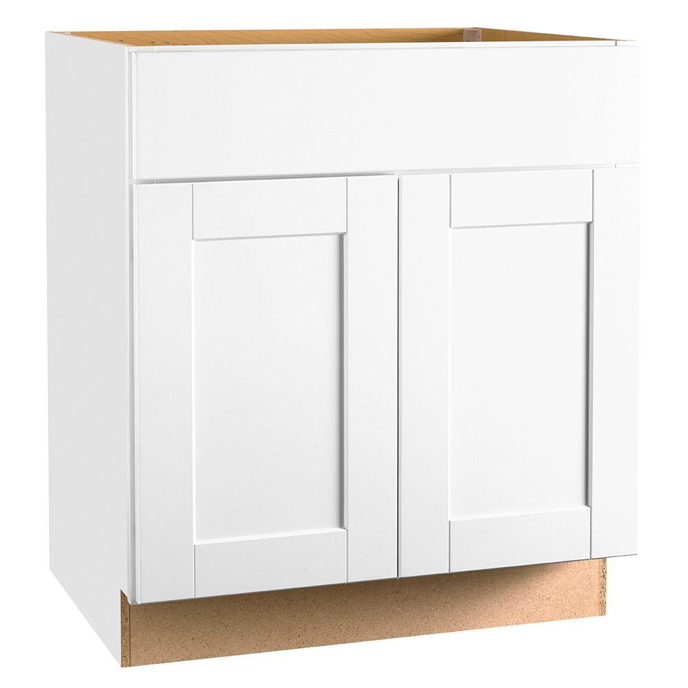 Hampton Bay Shaker Assembled In Base Kitchen Cabinet With Ball Bearing Drawer Glides
