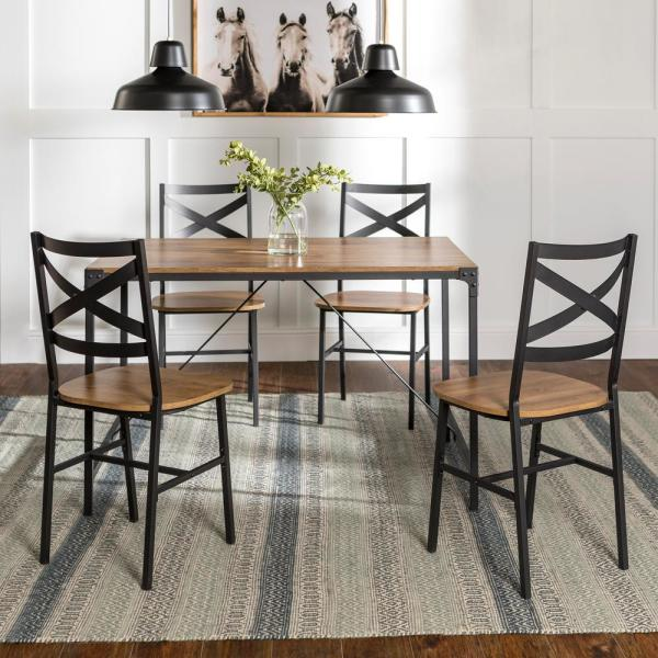 Barnwood 48 Angle Iron Wood Dining Table