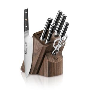 Click here to buy Cangshan TC Series Swedish Sandvik 14C28N Steel Forged 8-Piece Knife Block Set, Walnut by Cangshan.