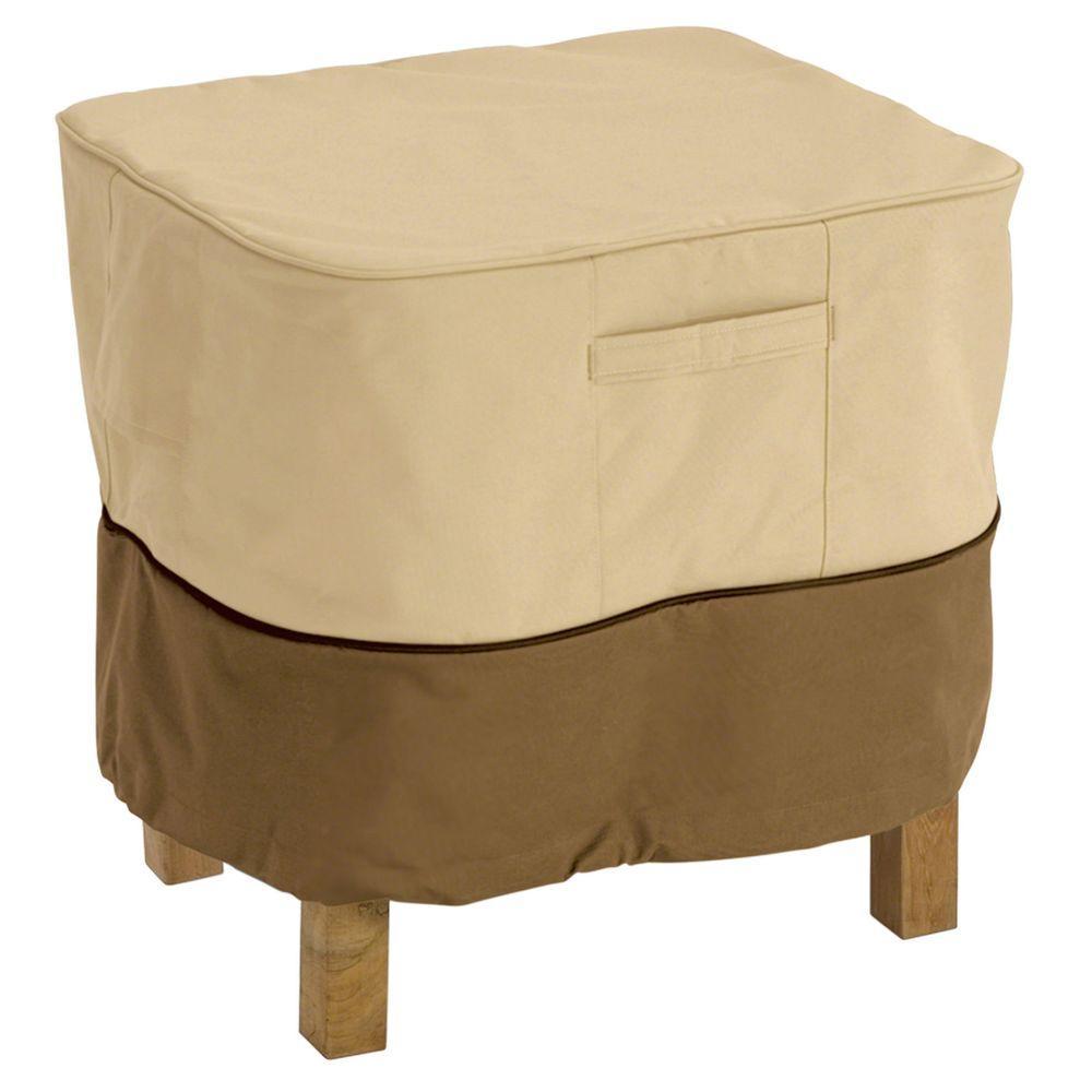 Classic Accessories Veranda Small Square Patio Ottoman Table Cover 70972 The Home Depot