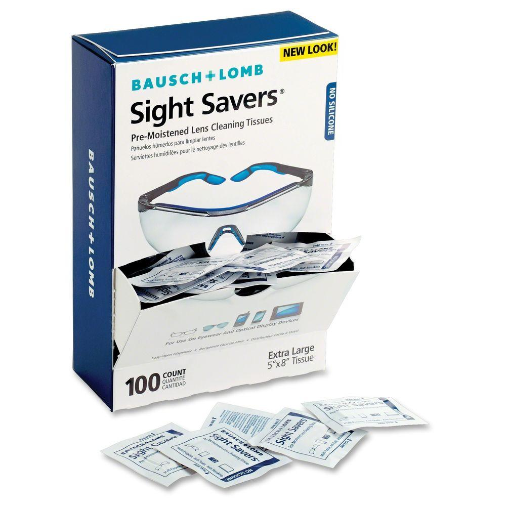 Sight Savers Pre-Moistened Lens Cleaning Tissue (100 per Box)