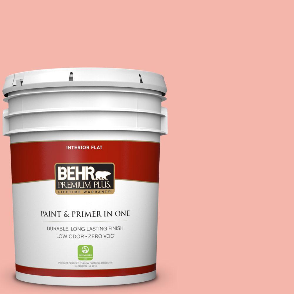 BEHR Premium Plus 5-gal. #P180-3 Pink Mimosa Flat Interior Paint
