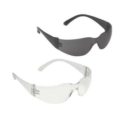 BULLDOG 2-Piece Polycarbonate Wraparound Safety Glasses Set