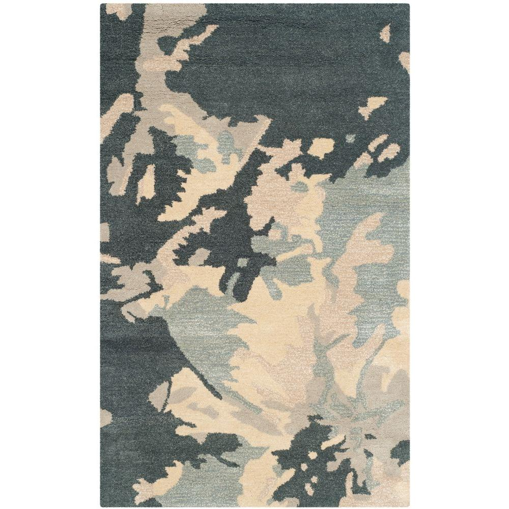 Safavieh Bella Steel Blue 4 ft. x 6 ft. Area Rug