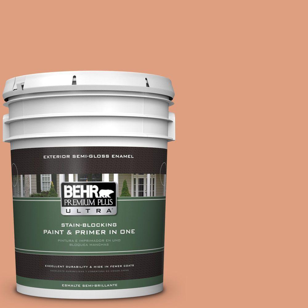 BEHR Premium Plus Ultra 5-gal. #230D-4 Pecos Spice Semi-Gloss Enamel Exterior Paint
