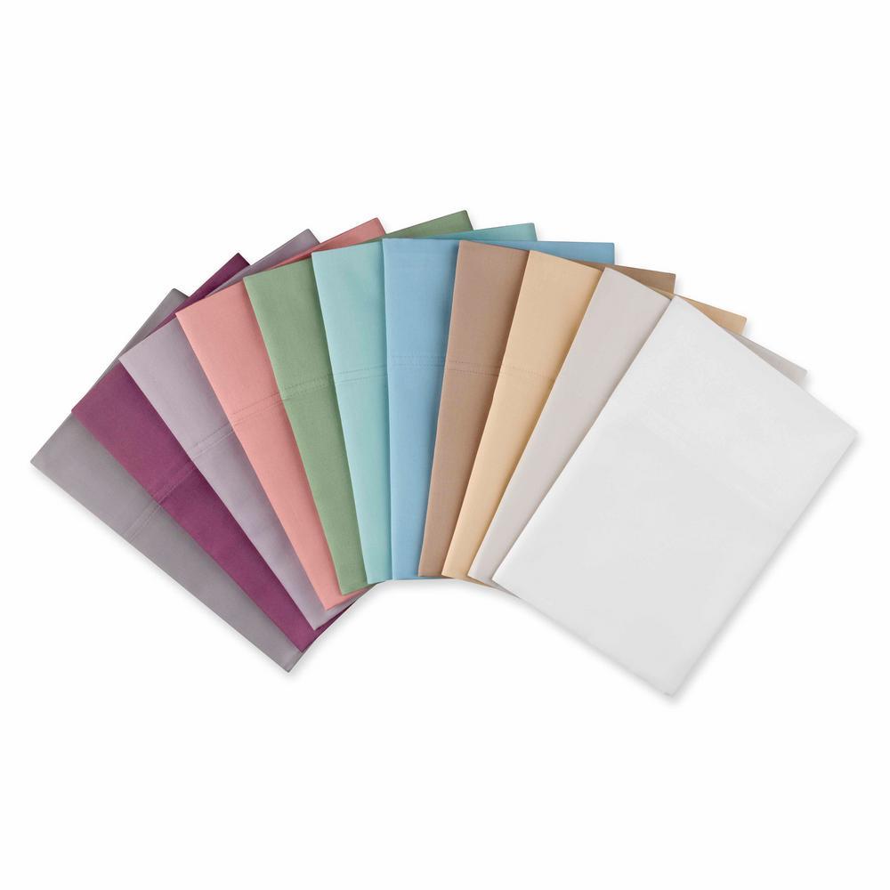 Williamsburg 400-Thread-Count 6-Piece Berry Cotton Sateen Full Sheet Set