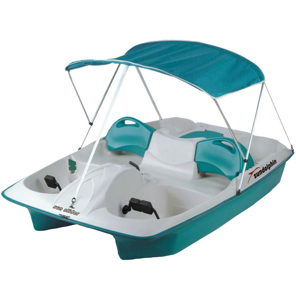 Sun Dolphin Sun Slider 5-Person Pedal Boat with Canopy-72143 - The Home Depot