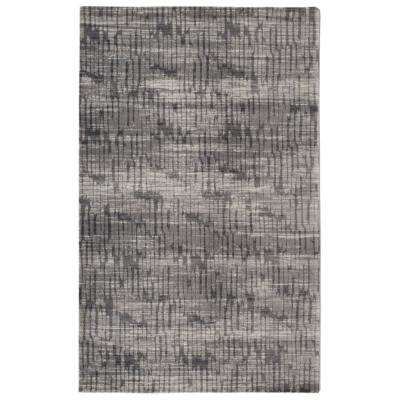Traffic Contemporary Modern Grey 5 ft. 6 in. x 8 ft. 6 in. Area Rug
