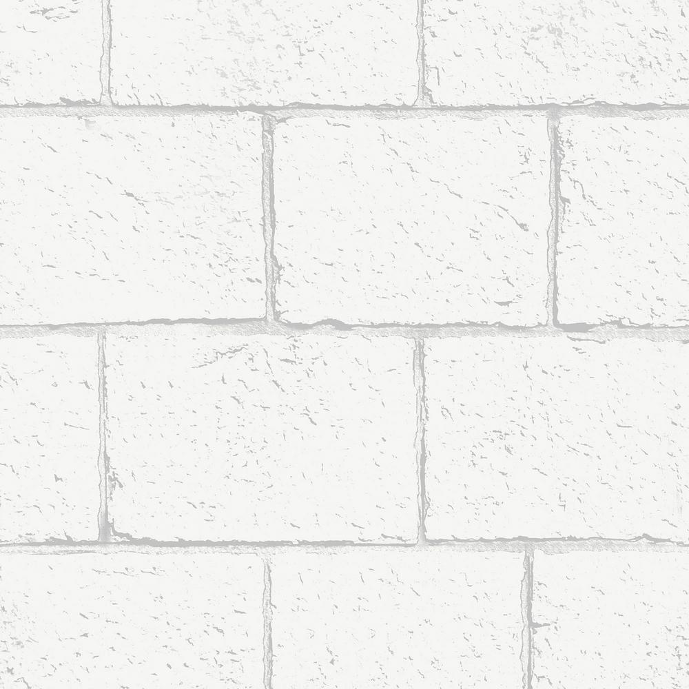 White Breezeblock Wallpaper