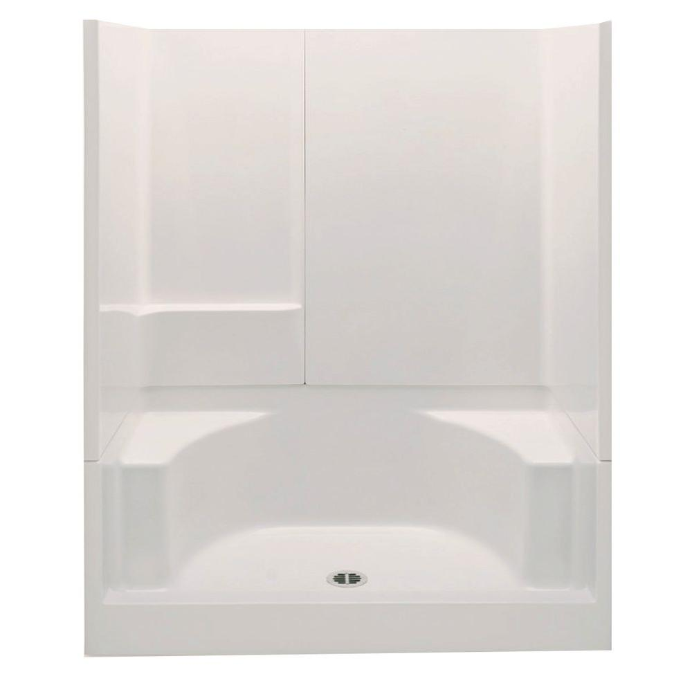 Remodeline Smooth Wall 60 in  x 34 72 Shower Walls Surrounds Showers The Home Depot