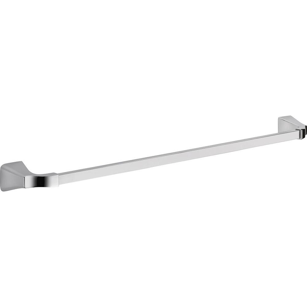Delta Tesla 30 in. Single Towel Bar in Chrome (Grey)