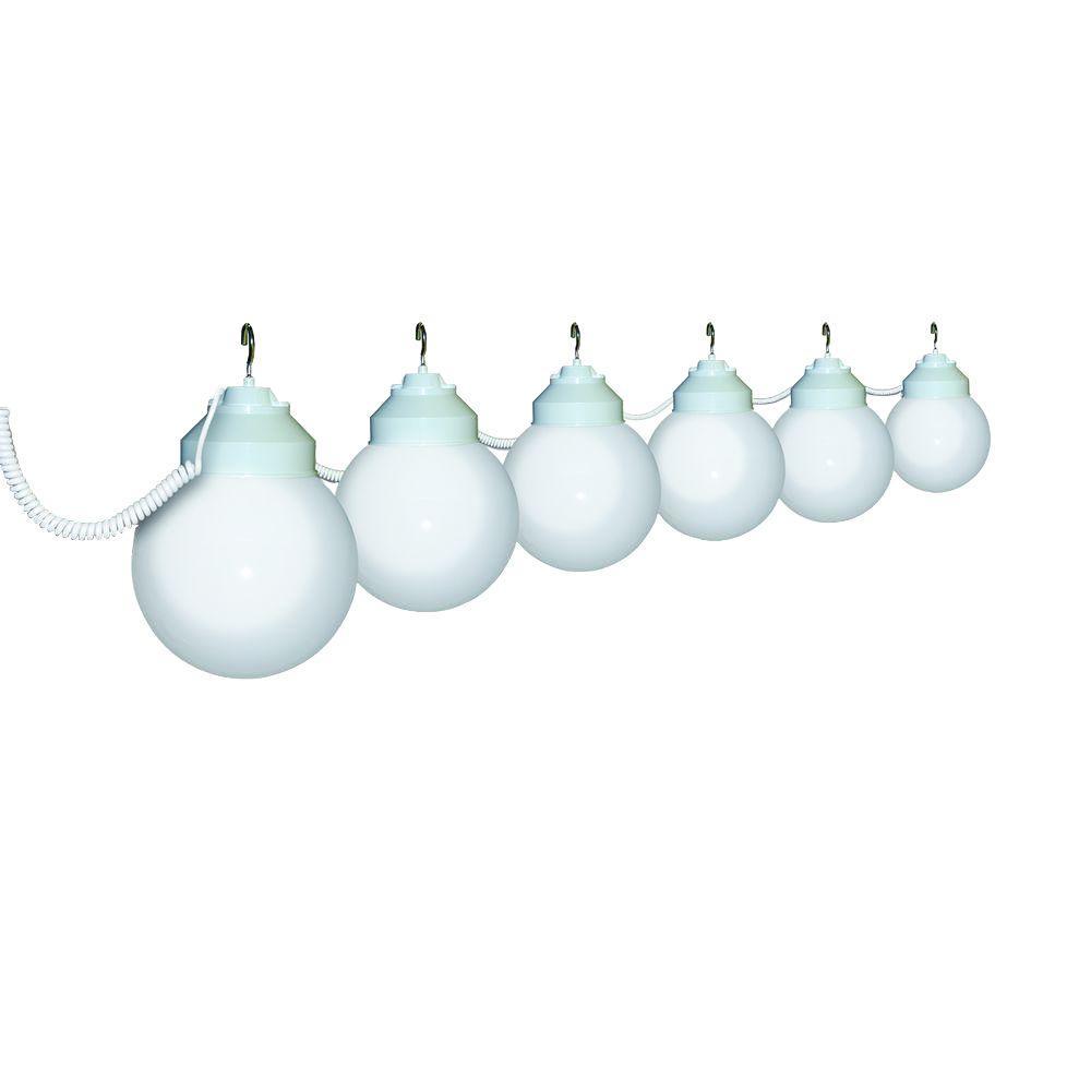 6-Light Outdoor White String Light Set