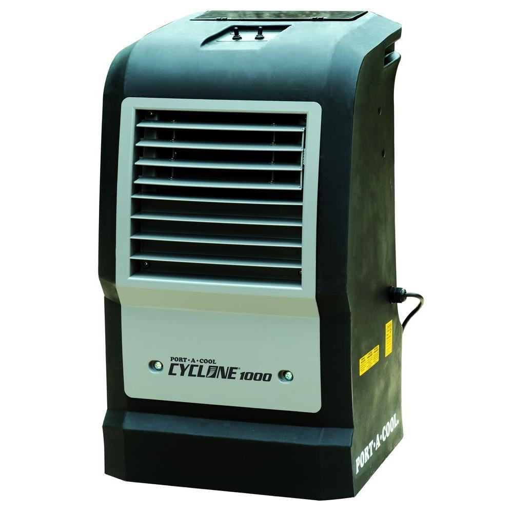 Portable Evaporative Coolers Home Depot : Portacool cyclone cfm speed portable evaporative