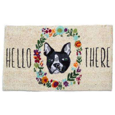 Hello There Dog 18 in. x 30 in. Coir Door Mat