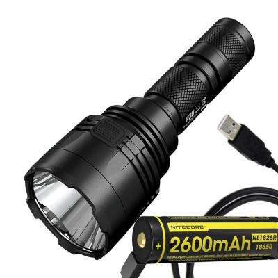 Precise Series P30 1000 Lumens 676 Yards LED Flashlight with USB Rechargeable Battery