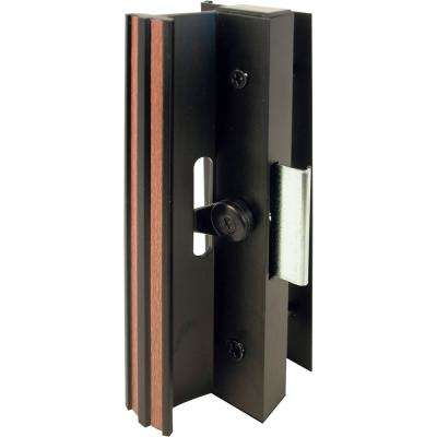 Surface Mounted Sliding Glass Door Handle with Clamp Type Latch, Black