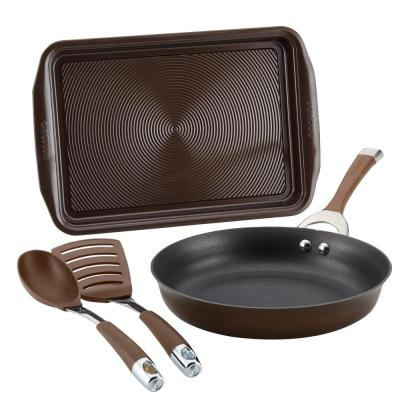 Symmetry 4-Piece Chocolate Hard-Anodized Nonstick Weeknight Cookware Set