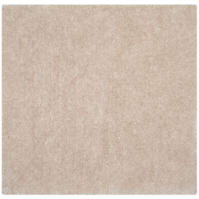 Luxe Shag Bone 8 ft. x 8 ft. Square Area Rug