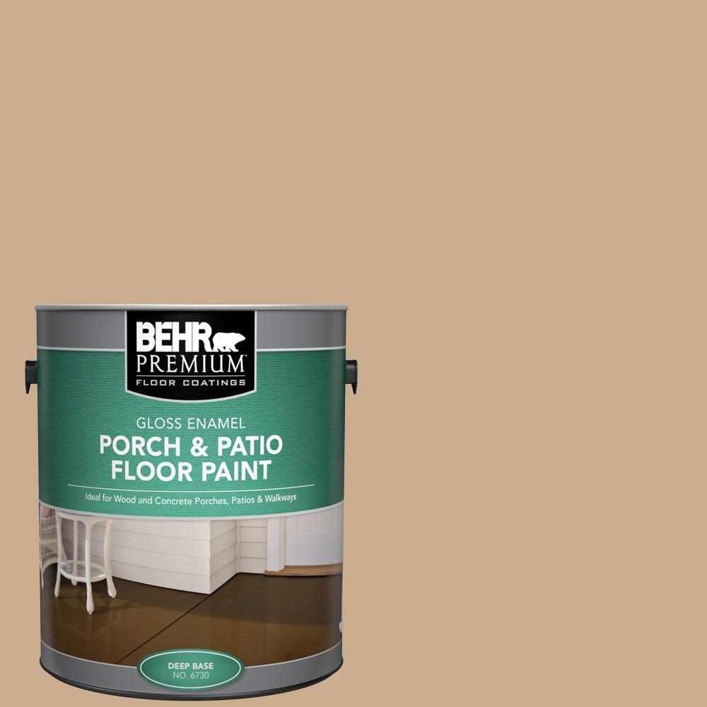 Behr Premium 1 Gal Pfc 23 Tan Gloss Enamel Interior Exterior