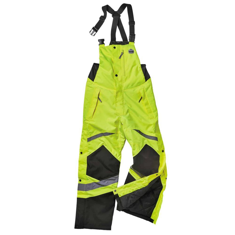 GloWear L Lime Class E Insulated Bib Overall
