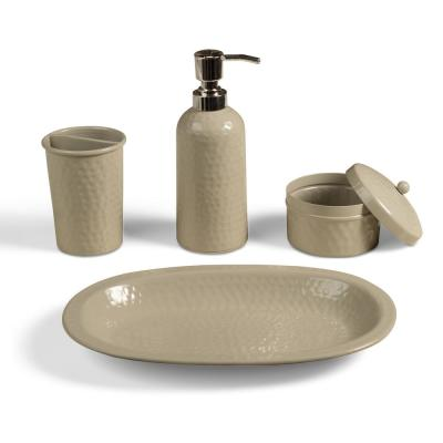 Beige Bathroom Accessory Sets Bathroom Decor The Home Depot