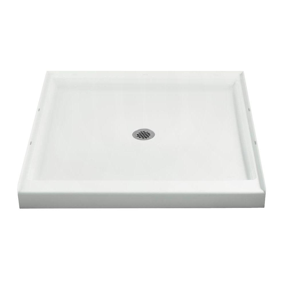 Single Threshold Shower Base In White 72151100 0   The Home Depot