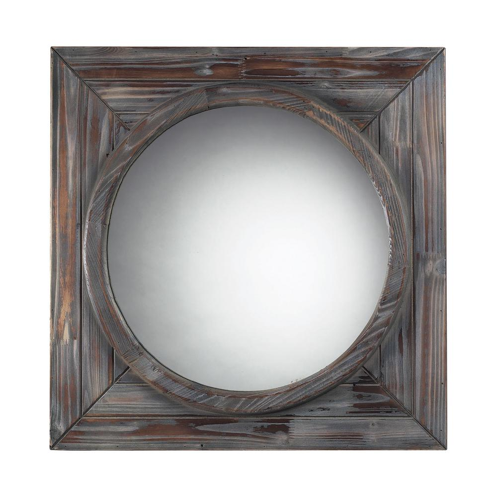 Bronwood 24 in. Square Wood Framed Mirror
