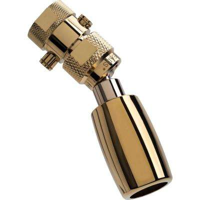 Classic Plus 1-Spray 1 in. 1.5 GPM Low Flow Fixed Shower Head with All Metal Construction and Valve in Polished Brass