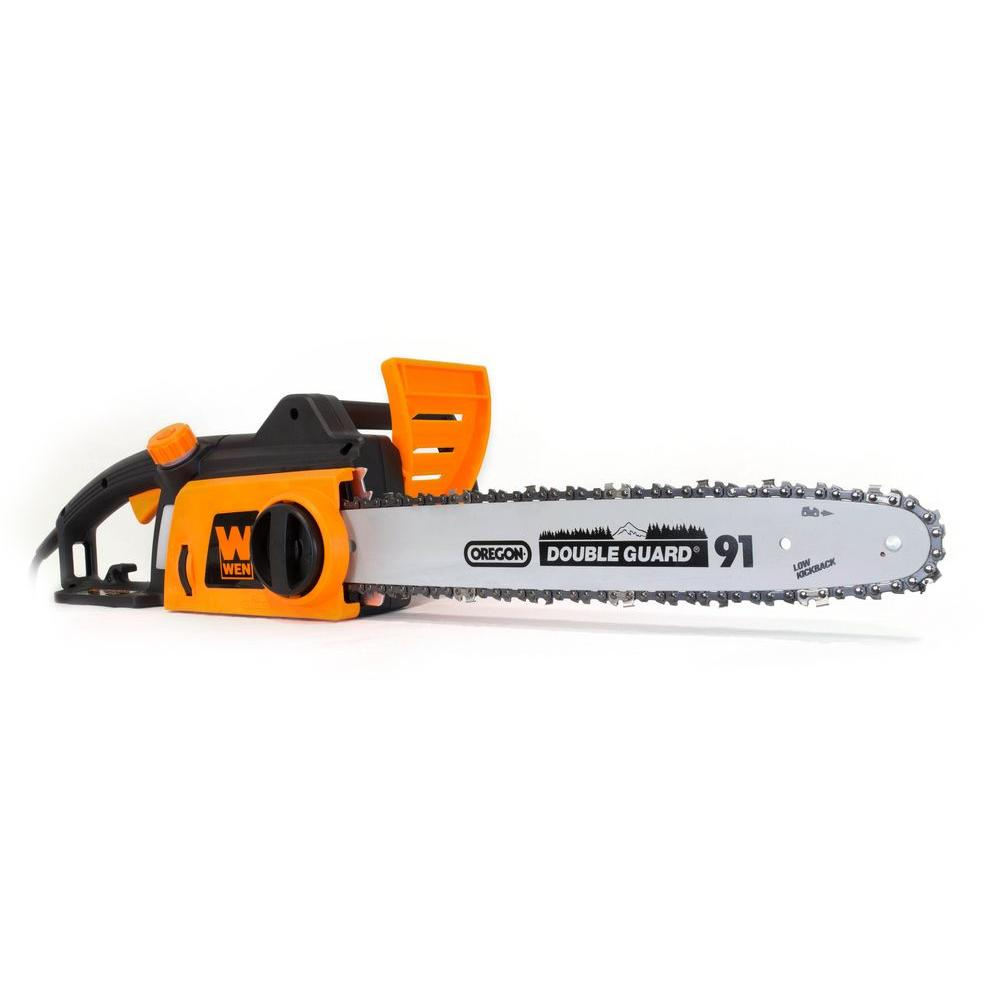 Wen 16 in 12 amp electric chainsaw 4017 the home depot 12 amp electric chainsaw 4017 the home depot greentooth Gallery