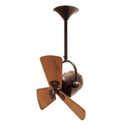 Bianca Direcional 16 in. Indoor/Outdoor Bronze Ceiling Fan with Wall Control