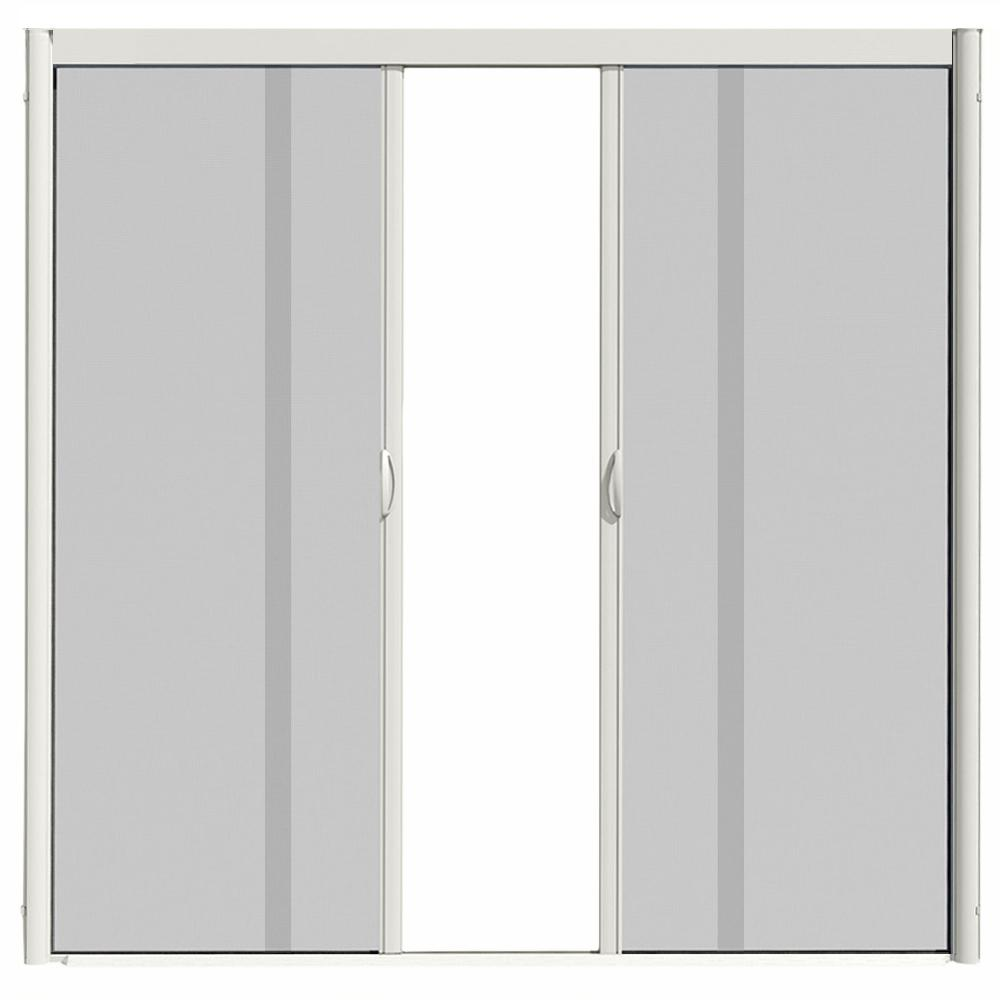 Visiscreen 72 In X 100 Vs1 White Retractable Screen Door Double Cette