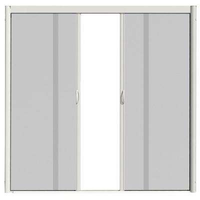 72 in. x 100 in. VS1 White Retractable Screen Door, Double Cassette