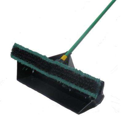Brovel 24 inch Pre-Attached No Bending Dust Pan and Quickie Bulldozer Push Broom by Brovel