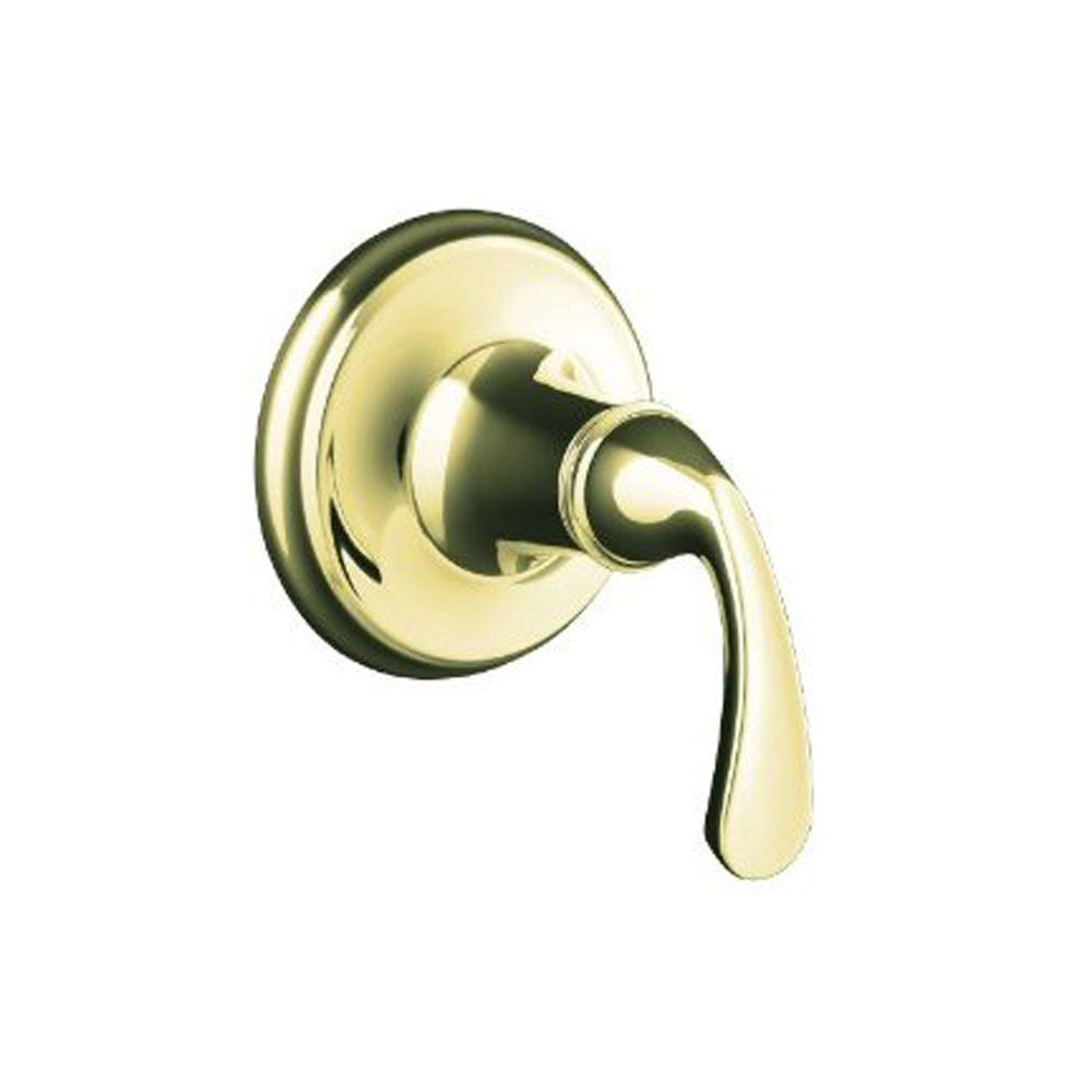 KOHLER Forte 1-Handle Transfer Valve Trim in Vibrant French Gold-DISCONTINUED