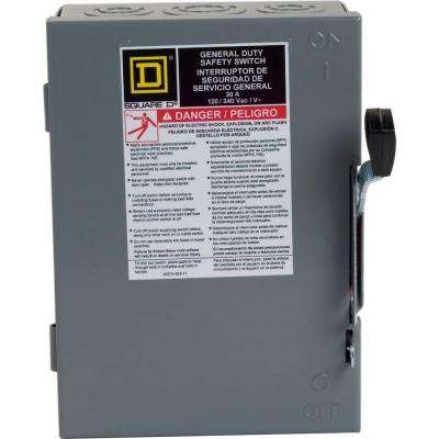 30 Amp 240-Volt 2-Pole Fused Indoor General Duty Safety Switch