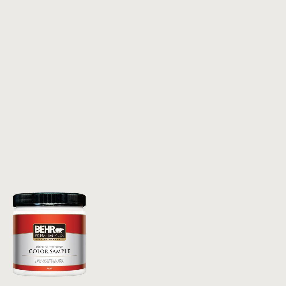BEHR Premium Plus 8 oz. #1852 White Interior/Exterior Paint Sample